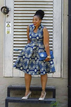 ♡African Print in Fashion … – African Fashion Dresses - African Styles for Ladies African Dresses For Women, African Print Dresses, African Attire, African Fashion Dresses, African Wear, African Women, Ghanaian Fashion, African Prints, African Print Skirt