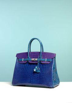 f195a638899d Hermès - Birkin tricolore en crocodile trois couleurs (bleu roi