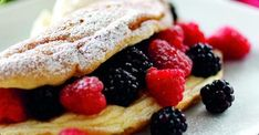 Souffle omelette, quark cream & berries