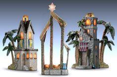 La noche santa de Belén elegante colección de encendido de la Natividad de accesorios