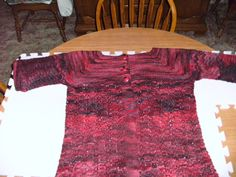"""""""February Lady"""" sweater for Sharon."""