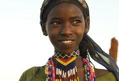 Africa |  A young Borana Oromo (aka Boran) woman, South Ethiopia |  © Georges Courreges