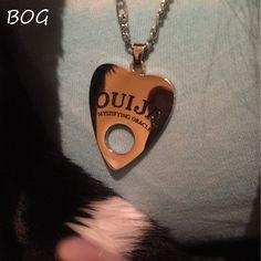 BOG- Lot 1 pcs Stainless Steel Pendant Ouija Board Planchette Necklace 24 Inch Copper Chain Ouija Board pendant  Jewelry