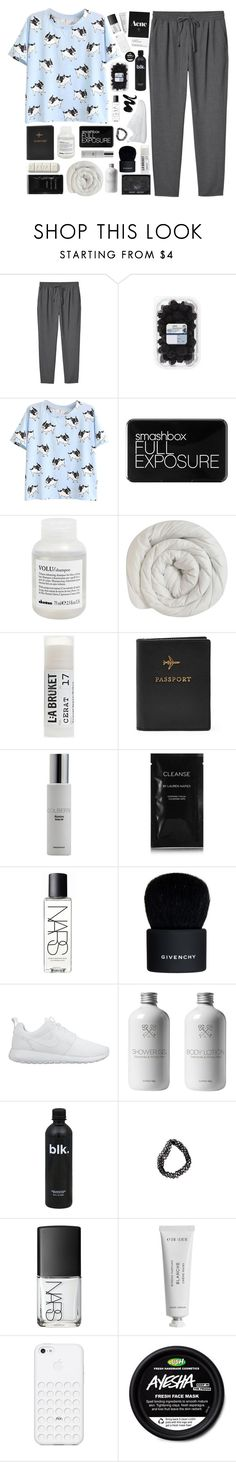"""""""I've been thinking too much / get to know me tag"""" by princess-unicorn-167 ❤ liked on Polyvore featuring Monki, Smashbox, Davines, Toast, Colbert MD, Cleanse by Lauren Napier, NARS Cosmetics, Givenchy, NIKE and Clips"""