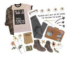 """""""Creeping around up in downtown"""" by purpleghost ❤ liked on Polyvore featuring Dr. Martens, Cheap Monday, Jil Sander, Linea, ...Lost and CC"""