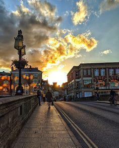 "York's Instagram photo: ""A gorgeous photo on Ouse Bridge 📷 by Marcos Akira #york #yorkengland #yorkuk #visityork #ousebridge #sunset"" York Uk, York England, Visit York, Akira, Clouds, Sunset, Outdoor, Instagram, Outdoors"
