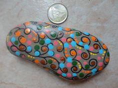 PAINTED BEACH STONE / Pebble Art / Dot Painted by NatureParadise, $19.99