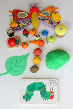 Most children love play dough and making a story come to life with play dough is a lot of fun. My preschooler son and I often make book characters come to life with play dough and this is great for pretend play, fine motor skills, language development and creative thinking. When I tell this story using play dough, I make a ball out of everything the caterpillar eats and wrap it in green to show how big his tummy is. My son just loves it!