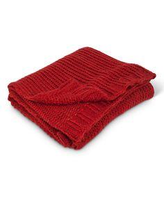 Another great find on #zulily! Red Wool-Blend Throw by Abbott #zulilyfinds