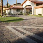 Create a dramatic entrance to your home through the use of design accents. Driveway Pavers, Driveway Design, Outdoor Spaces, Outdoor Living, Paver Patterns, Simple Borders, Entrance, Living Spaces, Yard