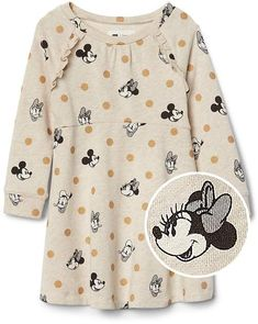 babyGap | Disney Baby polka dot ruffle dress #shopstyle #disneystyle #babygirl #babyclothes
