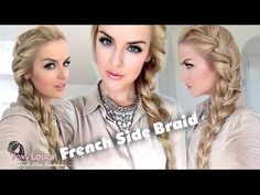 How To: Big French Side Braid - YouTube