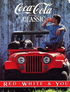 Jeep and Coca Cola Classic - can't beat the real thing!