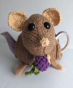 Really cute Dormouse Pint Size Tea Cosy http://www.teacosyfolk.co.uk/Dormouse-Tea-cosy-p-104.php
