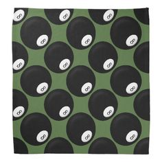 Eight Ball Billiard Theme Bandanas #zazzle