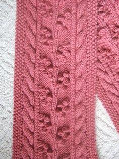 Free Pattern: Regina Cable & Bobble Scarf pattern by SmarieK