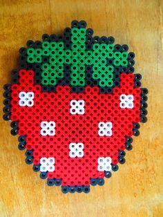 Strawberry  Perler Beads Magnet