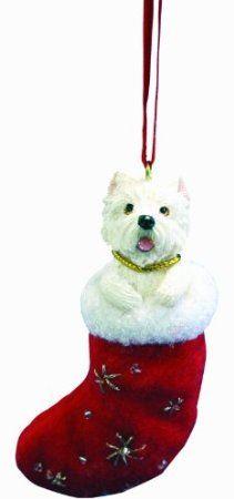 Amazon.com: E&S Pets ORN221-45 Santa's Little Pals Christmas Ornaments, Westie West Highland White: Home & Kitchen