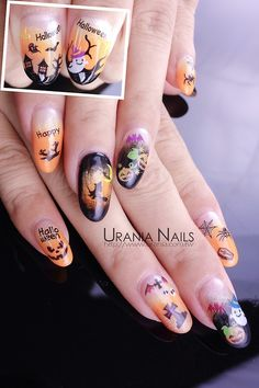 urania-asia:  Halloween Nail Art