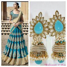 Combo offer - Lehenga choli and earrings
