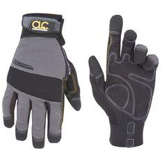 3c904adc Custom Leathercraft Gray and Black Medium Handyman Gloves, Multicolor