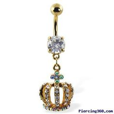 Queen belly ring