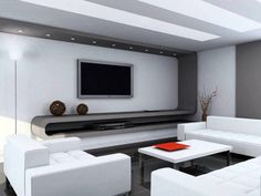 Chic and Modern TV wall mount ideas. Here are 15 best TV wall mount ideas for any place including your living room. Living Room Tv, Small Living Rooms, Living Room Designs, Living Area, Modern Tv Wall, Modern Tv Units, Estilo High Tech, Ikea Wall Decor, Home Interior Design