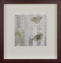 Vicki Essig  Luna  2011  Handwoven Silk, Stainless Steel, with Antique Manuscript and Luna Moth