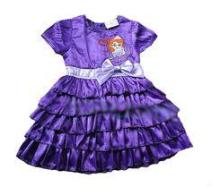 Summer Baby Girl Clothes Dress 2017 Cartoon Sofia Pattern Girl Baby Clothes Dress Summer Brand Kids Princess Tutu Dress For Girl