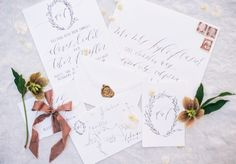 Photography: Sally Pinera - sallypinera.com Calligraphy: Jenny Sanders - gracelineart.com   Read More on SMP: http://stylemepretty.com/vault/gallery/38985