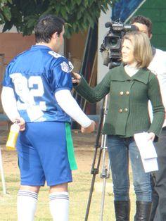 Entrevista pré-jogo para a TV Vanguarda. Primeira partida oficial realizada em Taubaté. Campeonato Paulista de Flag 2011.