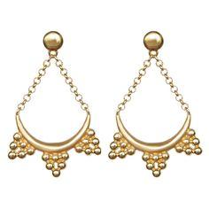 Bohemian Greek - Gold Plated Silver Earrings #bohemian #earrings #jewellery