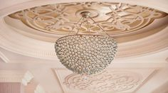 Extravagant lighting at Waldorf Astoria Ras Al Khaimah creates a welcoming ambience and detailed architecture.