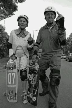 """#skate for #life.  Never too old to say """"f-you"""" to the man.  At least that's what we at boardtrader.com assume they're saying"""