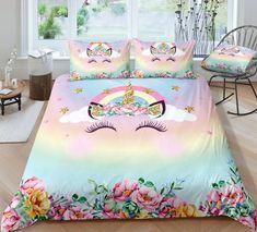 Pink Unicorn Floral Bedding, Pink Unicorn Duvet Cover, Unicorn and Flowers Bedroom Decor, Unicorn Lover Gift Unicorn Room Decor, Unicorn Rooms, Unicorn Bedroom, Floral Bedding, Pink Bedding, Bedding Sets, Luxury Bedding, Unicorn Duvet Cover, Unicorn Bed Set