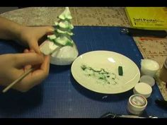 Fondant Winter Christmas Tree covered with Snow (Cake Decoration)