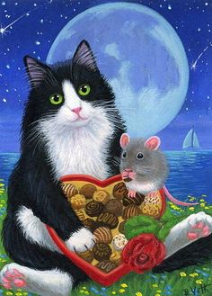 """""""Be My Valentine"""" by Bridget Voth-- Too bad this isn't an obese little white gerbil or this would be perfect!"""