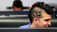 "Best Haircut of the JPL Mission Control Team    ""As we eagerly await the MSL landing, we're watching everything going on in the control room at JPL — and we couldn't help but notice that Activity lead Bobak Ferdowsi has the perfect hair for landing night. Love the little stars dyed into his two-tone mohawk. Science inspires all the best fashion!"""