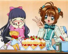 Cardcaptor Sakura | CLAMP | Madhouse / Kinomoto Sakura, Keroberos (Kero-chan), and Daidouji Tomoyo