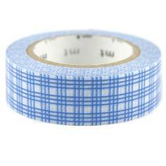 Masking tape rayures carreaux bleus