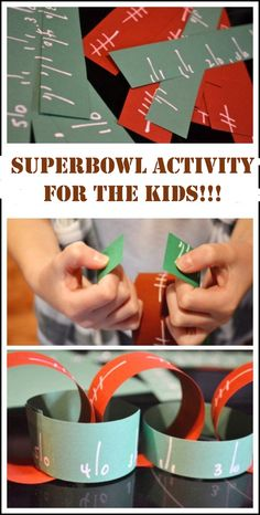 Superbowl craft for the kids!!!  Dr. Marc E. Goldenberg, Dr. Kate M. Pierce, and Dr. Matthew S. Applebaum Pediatric Dental Office Greensboro, NC