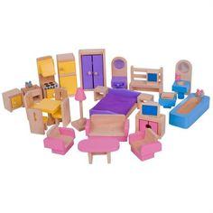 Bigjigs Toys Drevený nábytok do domčeka pre bábiky