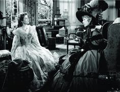 Greer Garson and Edna May Oliver (Elizabeth and Lady Catherine) in Pride and Prejudice (1940).