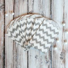 Gray Chevron Mini Favor Bags- love these!