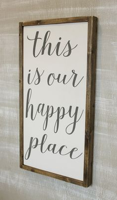 This is Our Happy Place Framed by mellisajane on Etsy