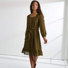 Apostolic Fashion, Modest Dresses, Flare Dress, Fit And Flare, Dress Skirt, Ruffles, What To Wear, Cold Shoulder Dress, Gowns