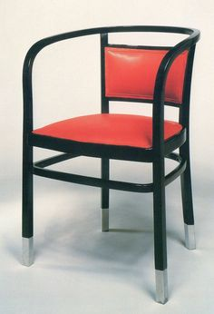 Armchair by Otto Wagner, ca. 1902 - executed by Jakob & Joseph Kohn, Vienna Otto Wagner, Ludwig Mies Van Der Rohe, Chinese Furniture, Restaurant Interior Design, Chair And Ottoman, Modern Chairs, Art Decor, Home Decor, Art Nouveau