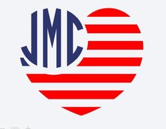 A personal favorite from my Etsy shop https://www.etsy.com/listing/384715584/american-flag-heart-decal-monogram-flag