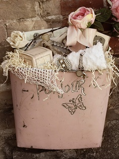 """bucket full of vintage treasures"""