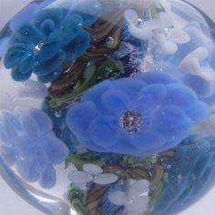Bousky Lampwork ROSE FOCAL Bead Tri-Colored Blues   -823. $26.00, via Etsy.